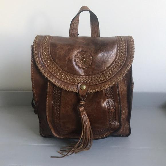 2603cef5583a Patricia Nash Jovanna Tassel Leather Backpack NWT